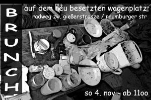 brunch poster wagenplatz 3.nov