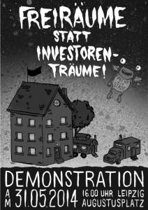 Plakat zur Freiraumdemo am 31.05.2014